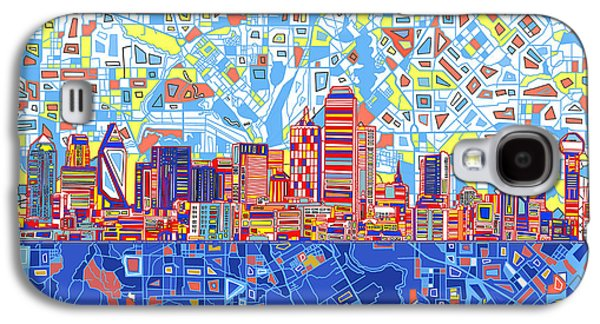 Dallas Skyline Abstract 5 Galaxy S4 Case