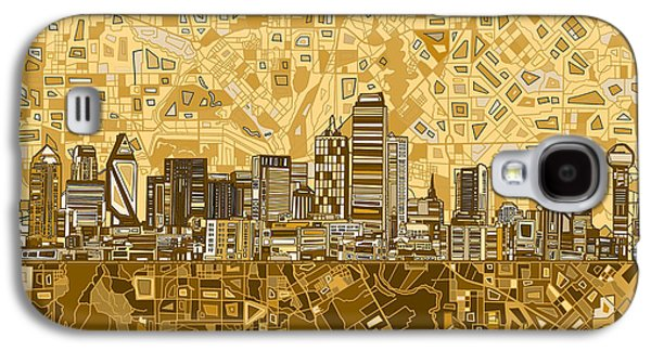 Dallas Skyline Abstract 6 Galaxy S4 Case