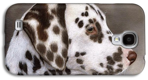 Dalmatian Puppy Painting Galaxy S4 Case by Rachel Stribbling