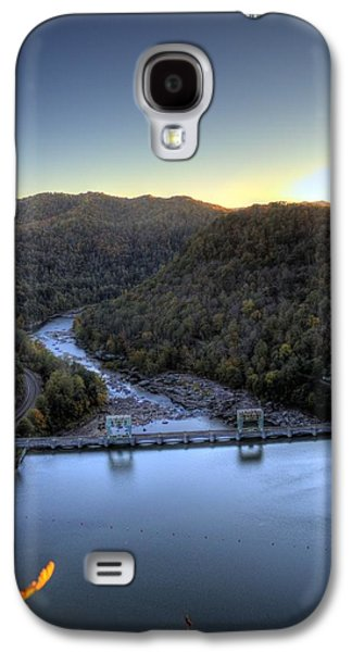 Galaxy S4 Case featuring the photograph Dam Across The River by Jonny D