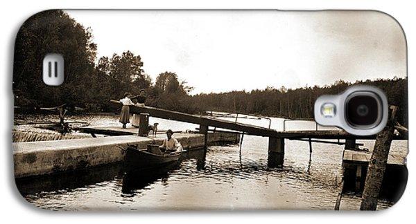 Dam And Lock, Saranac River, Adirondack Mtns Galaxy S4 Case