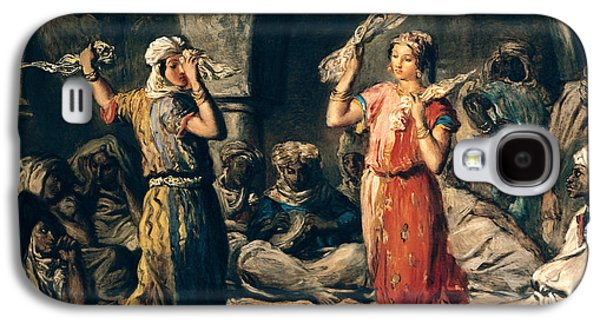 Dance Of The Handkerchiefs, 1849 Oil On Panel Galaxy S4 Case by Theodore Chasseriau