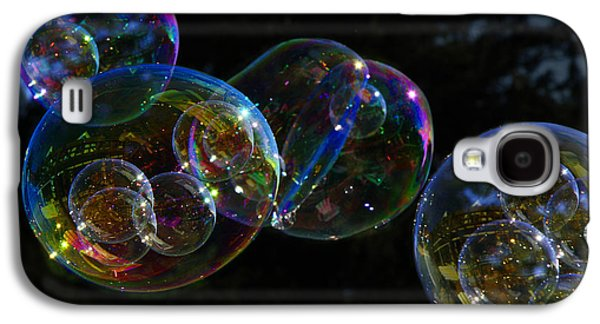 Galaxy S4 Case featuring the photograph Dark Bubbles With Babies by Nareeta Martin