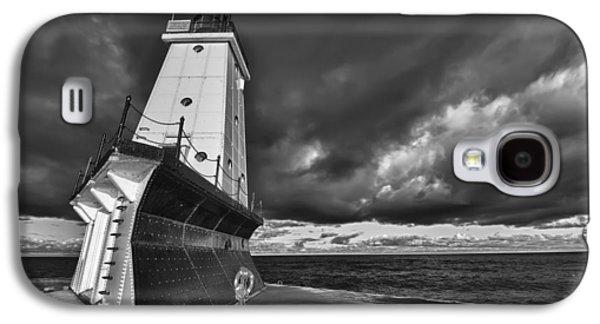 Dark Clouds Black And White Galaxy S4 Case