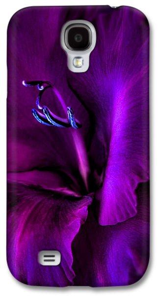 Dark Knight Purple Gladiola Flower Galaxy S4 Case