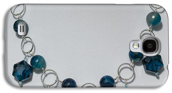 Dark Turquoise Crystal And Faceted Agate Necklace 3676 Galaxy S4 Case