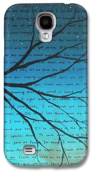 Dave Matthews Band Crush Lyric Art - Blue Galaxy S4 Case