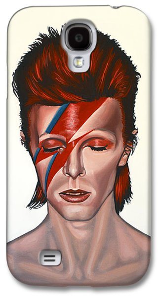 David Bowie Aladdin Sane Galaxy S4 Case by Paul Meijering