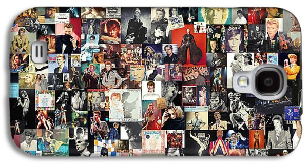 David Bowie Collage Galaxy S4 Case by Taylan Apukovska