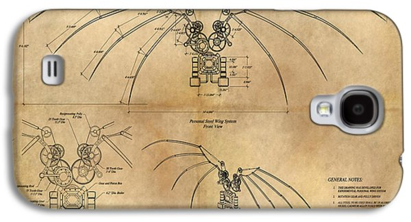 Davinci's Wings Galaxy S4 Case by James Christopher Hill