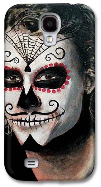 Day Of The Dead - Heath Ledger Galaxy S4 Case by Tom Carlton