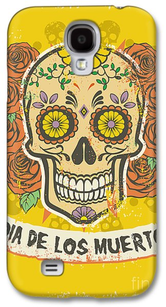 Rock And Roll Galaxy S4 Case - Day Of The Dead Poster by Bazzier