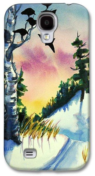 Daybreak Ski              Galaxy S4 Case by Kathy Braud