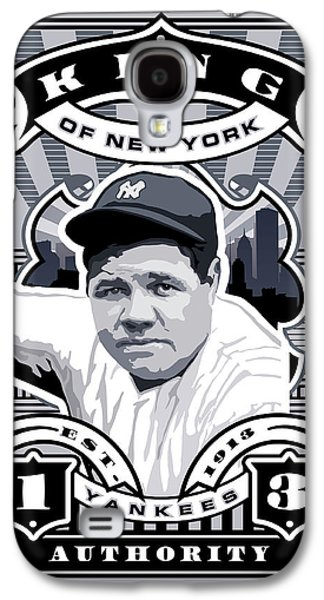 Dcla Babe Ruth Kings Of New York Stamp Artwork Galaxy S4 Case by David Cook Los Angeles
