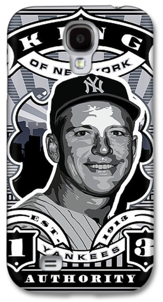 Dcla Mickey Mantle Kings Of New York Stamp Artwork Galaxy S4 Case by David Cook Los Angeles