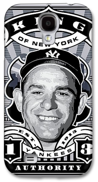 Dcla Yogi Berra Kings Of New York Stamp Artwork Galaxy S4 Case by David Cook Los Angeles