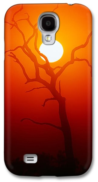 Dead Tree Silhouette And Glowing Sun Galaxy S4 Case by Johan Swanepoel
