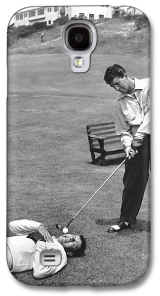 Dean Martin & Jerry Lewis Golf Galaxy S4 Case by Underwood Archives