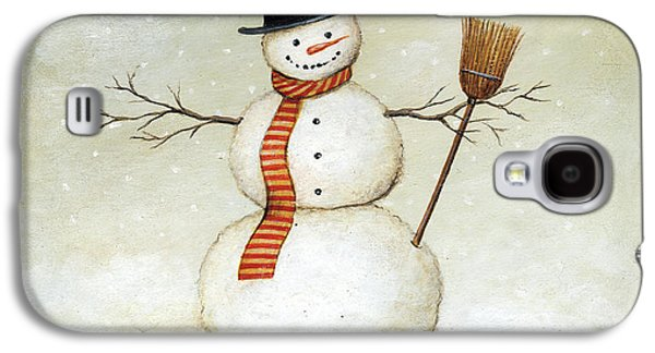 Deck The Halls - Snowman Galaxy S4 Case by David Carter Brown