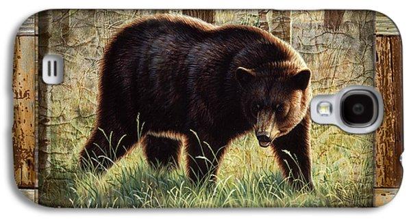Deco Black Bear Galaxy S4 Case by JQ Licensing