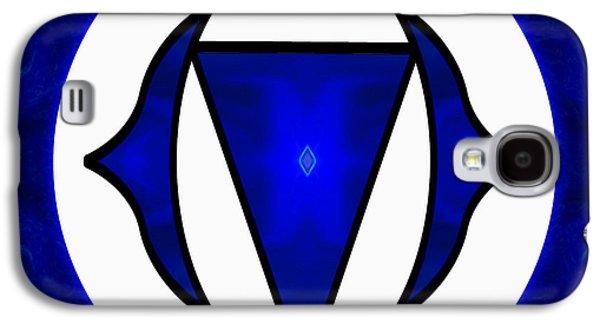 Deep Blue Awareness Abstract Chakra Art By Omaste Witkowski Galaxy S4 Case by Omaste Witkowski