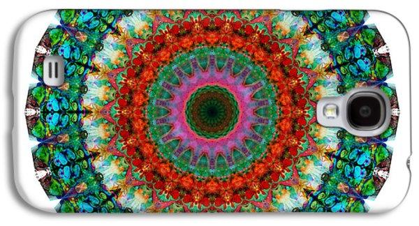 Deep Love - Mandala Art By Sharon Cummings Galaxy S4 Case by Sharon Cummings