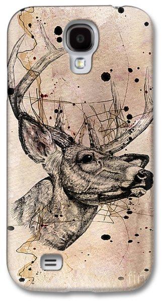 Deer 4 Galaxy S4 Case by Mark Ashkenazi