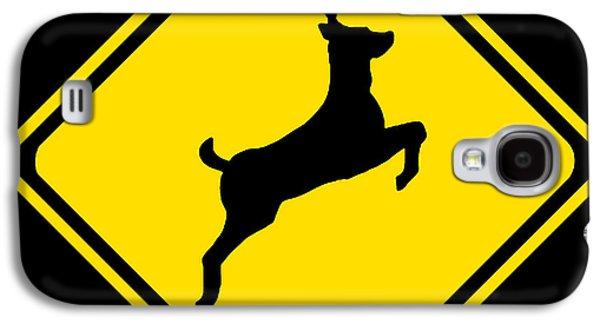 Deer Crossing Sign Galaxy S4 Case