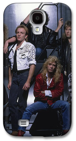 Def Leppard - Group Stairs 1987 Galaxy S4 Case by Epic Rights