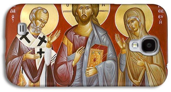 Deisis Jesus Christ St Nicholas And St Paraskevi Galaxy S4 Case by Julia Bridget Hayes