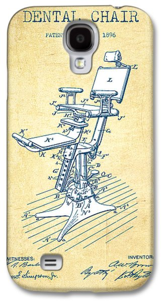 Dental Chair Patent Drawing From 1896 - Vintage Paper Galaxy S4 Case