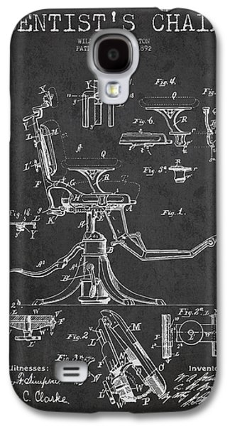 Dentist Chair Patent Drawing From 1892 - Dark Galaxy S4 Case