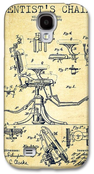 Dentist Chair Patent Drawing From 1892 - Vintage Galaxy S4 Case