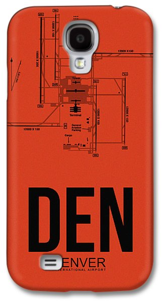 Travel Galaxy S4 Case - Denver Airport Poster 2 by Naxart Studio