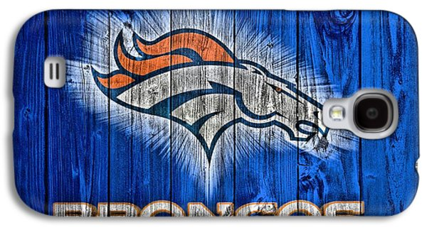 Denver Broncos Barn Door Galaxy S4 Case by Dan Sproul