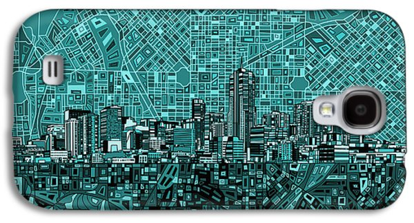 Denver Skyline Abstract 5 Galaxy S4 Case