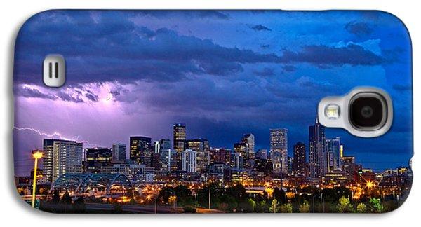 City Scenes Galaxy S4 Case - Denver Skyline by John K Sampson