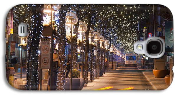 Denver's 16th Street Mall At Christmas Galaxy S4 Case by Juli Scalzi