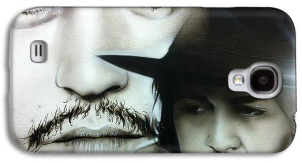 Johnny Depp - ' Depp ' Galaxy S4 Case by Christian Chapman Art