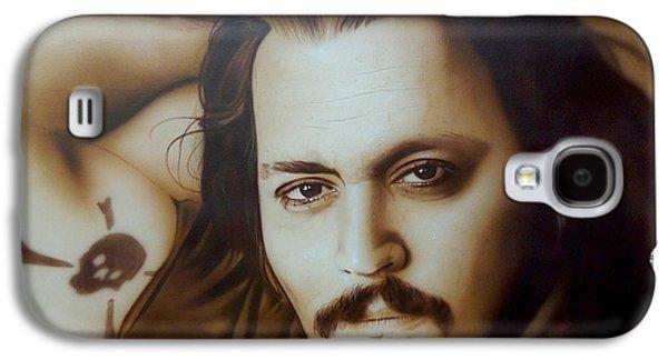 Johnny Depp - ' Depp II ' Galaxy S4 Case by Christian Chapman Art