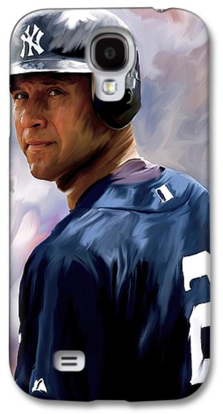 Derek Jeter  Galaxy S4 Case by Iconic Images Art Gallery David Pucciarelli