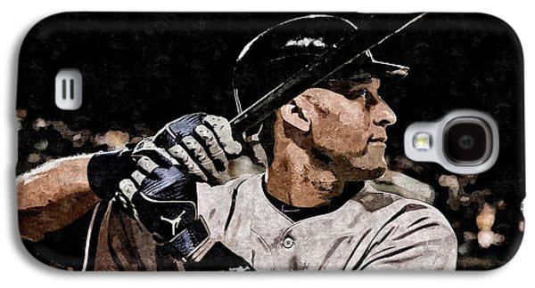 Derek Jeter On Canvas Galaxy S4 Case by Florian Rodarte