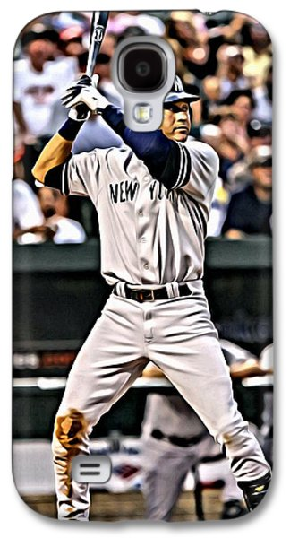Derek Jeter Painting Galaxy S4 Case by Florian Rodarte