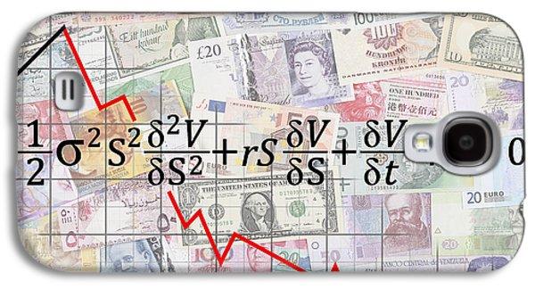 Derivatives Financial Debacle - Black Scholes Equation Galaxy S4 Case by Daniel Hagerman