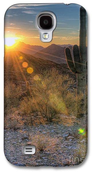 Desert Sunset Galaxy S4 Case - Desert Sunset by Eddie Yerkish