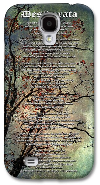 Desiderata Inspiration Over Old Textured Tree Galaxy S4 Case