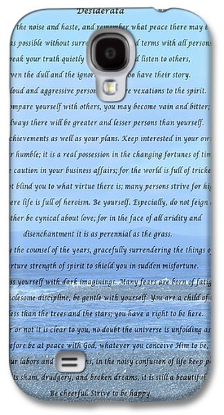 Desiderata On Beach And Ocean Scene Galaxy S4 Case by Barbara Griffin