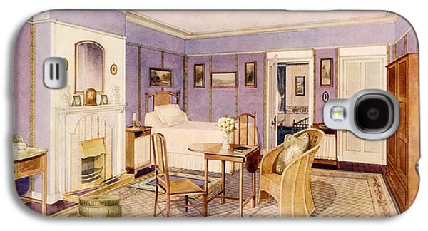Design For The Interior Of A Bedroom Galaxy S4 Case by Richard Goulburn Lovell