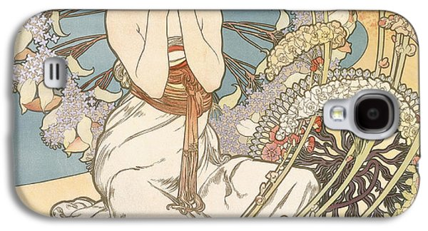 Detail From Monaco  Monte Carlo Galaxy S4 Case by Alphonse Marie Mucha