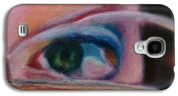 Detail Galaxy S4 Case - Detail From Portrait Of Chrissy An Acrylic Painting By Anna Porter Artist by Anna Porter